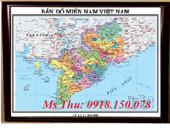 Bản đồ Miền Nam Khổ 6a0 Chuyen Bản đồ Khổ Lớn